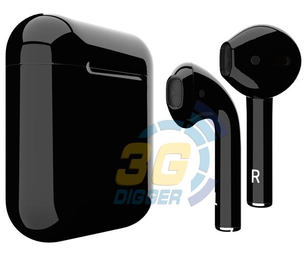 Наушники Apple AirPods Black с глянцевым покрытием