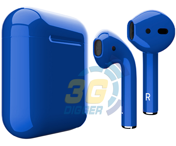 Наушники Apple AirPods Dark Blue с глянцевым покрытием