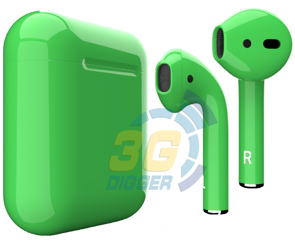 Наушники Apple AirPods Green с глянцевым покрытием