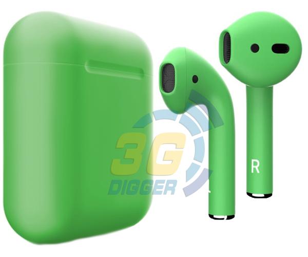 Наушники Apple AirPods Green с матовым покрытием