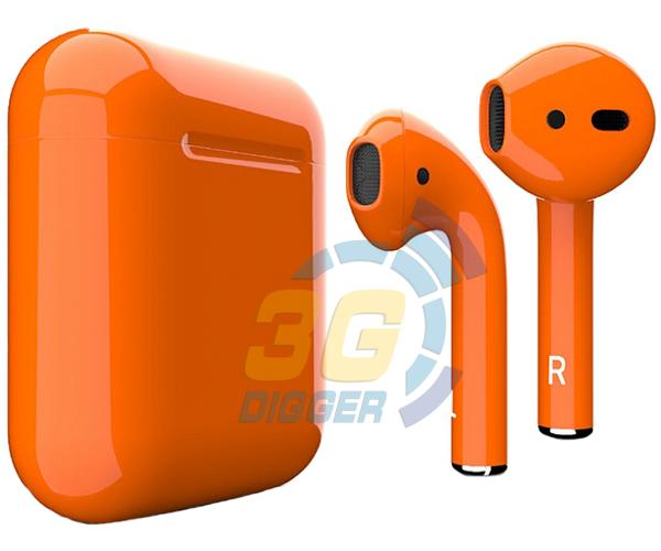 Наушники Apple AirPods Orange с глянцевым покрытием