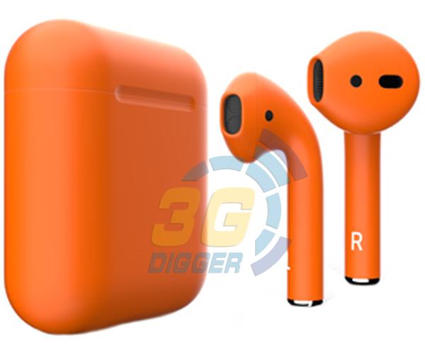 Наушники Apple AirPods Orange с матовым покрытием