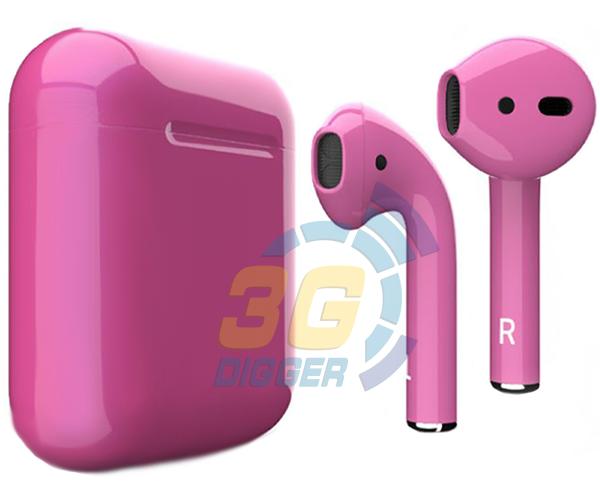 Наушники Apple AirPods Pink с глянцевым покрытием