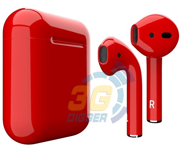 Наушники Apple AirPods Red с глянцевым покрытием
