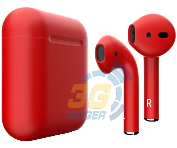 Наушники Apple AirPods Red с матовым покрытием
