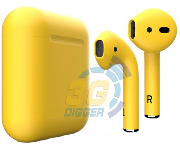 Наушники Apple AirPods Yellow с матовым покрытием